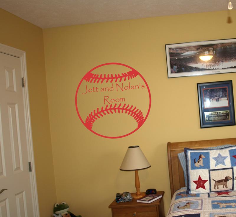 Baseball Name Wall Decal