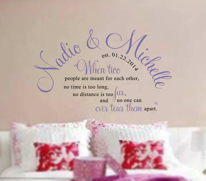 Couple S Names Wall Decal