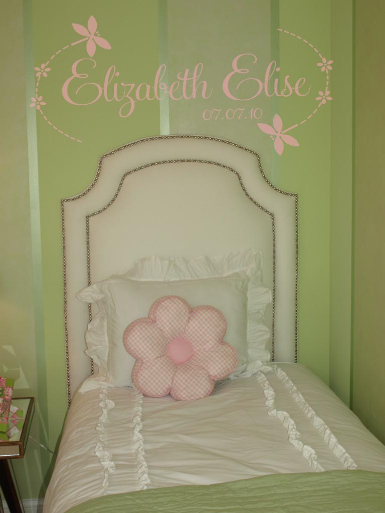 Dragonfly Name Design Wall Decal