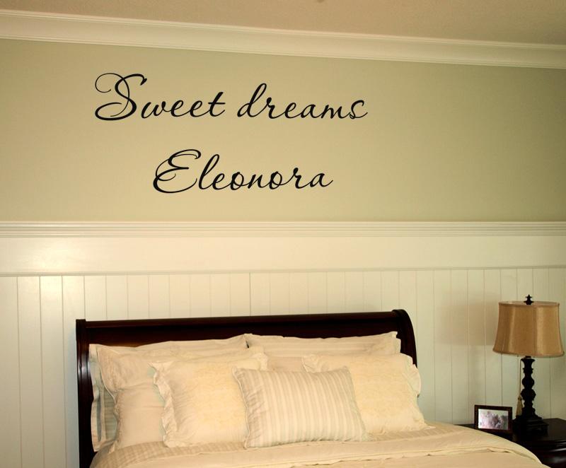 Sweet Dreams Name Wall Decal