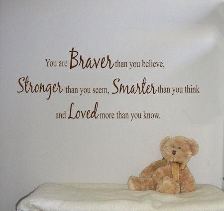 Braver Stronger Smarter Loved 2 Wall Decals