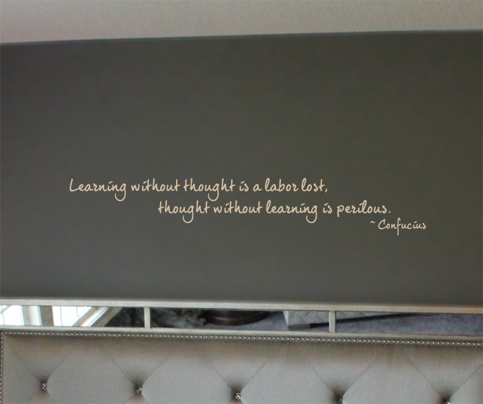 Learning Without Thought Confucius Decal