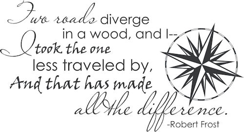Two Roads Diverge | Wall Decals