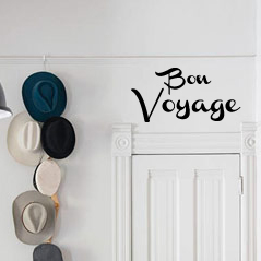 Bon Voyage Wall Decal