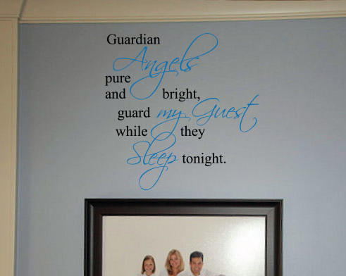 Guard My Guest Wall Decal