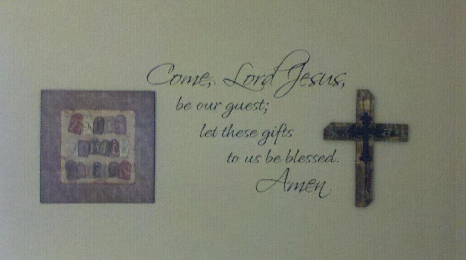 Come Lord Jesus Let These Gifts Wall Decals