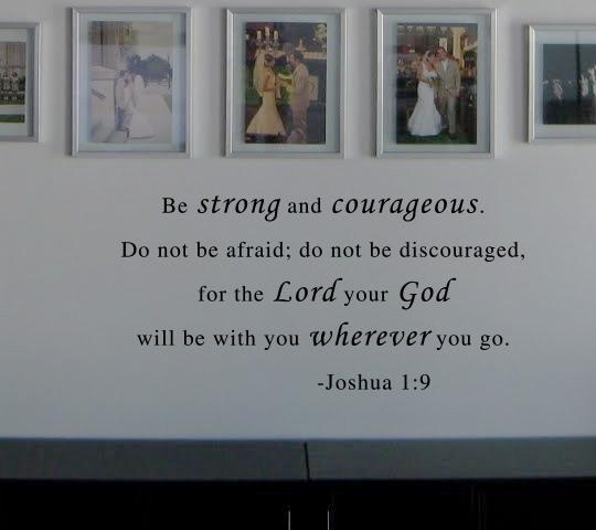 Joshua 1:9 Wall Decal