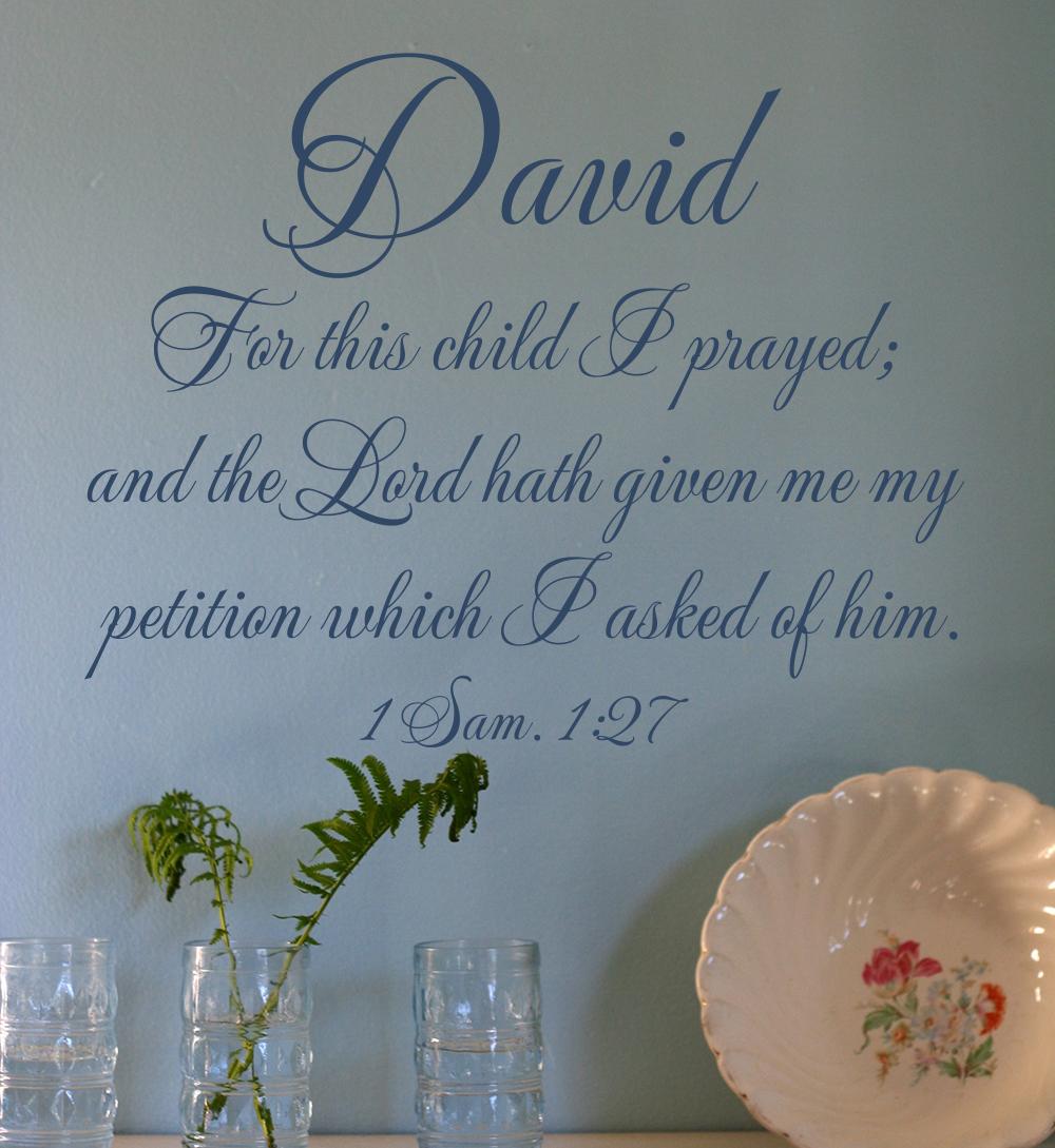 David Wall Decal