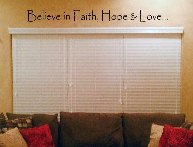 Faith, Hope & Love Wall Decal