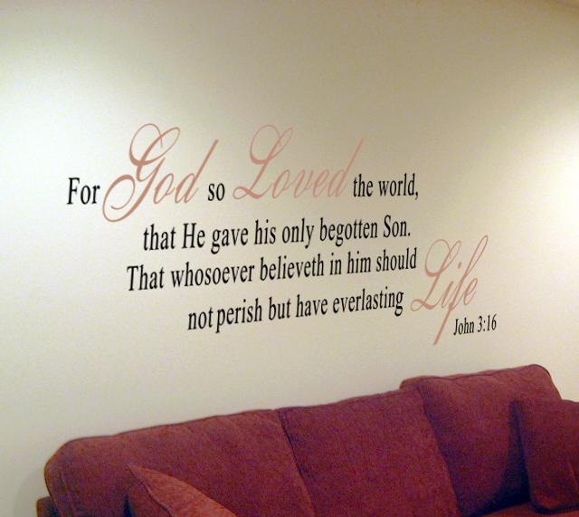 John 3:16 Wall Decal