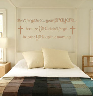 Don't Forget To Say Your Prayers Wall Decals