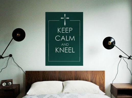 Keep Calm and Kneel Inspirational Decal