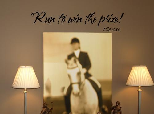 Run to Win Wall Decal