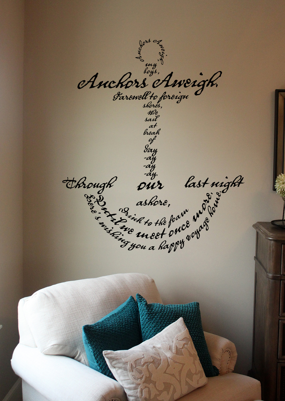 Anchors Aweigh Song Anchor Wall Decal
