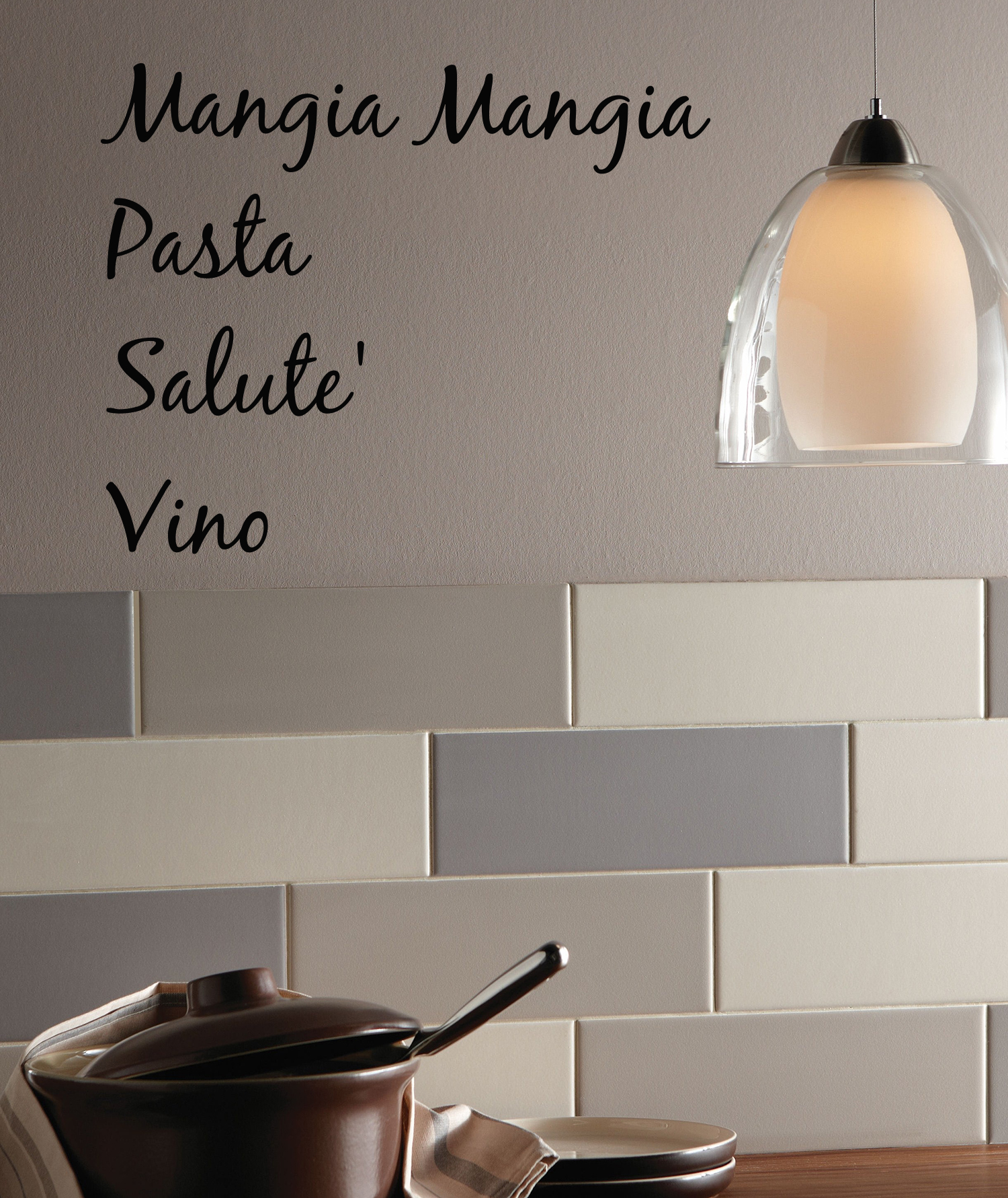 Simply Italian Words Wall Decal