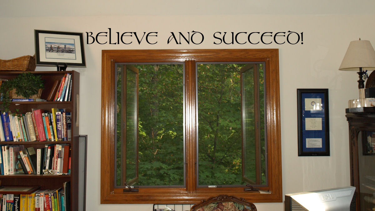Simply Words Believe And Succeed Wall Decal