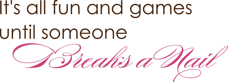 Breaks A Nail Salon Decals