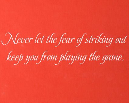 Fear Keep You From Playing Game Wall Decals