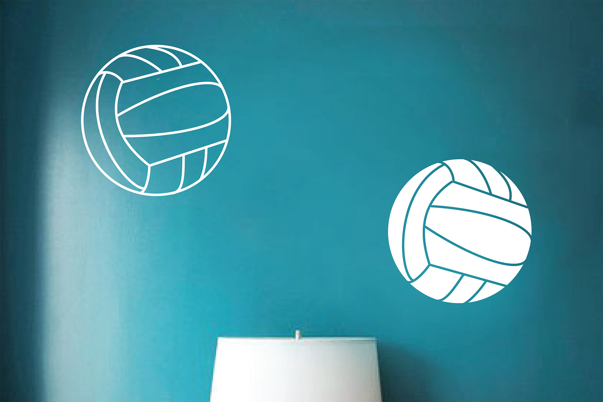 Volleyballs Wall Decal