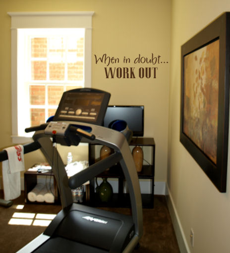 When In Doubt Work Out Wall Decal