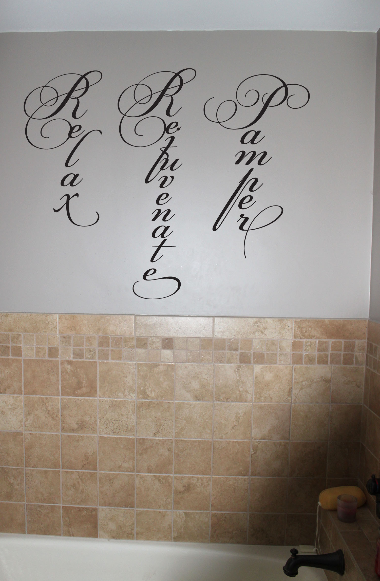 Relax Rejuvenate Pamper Wall Decals