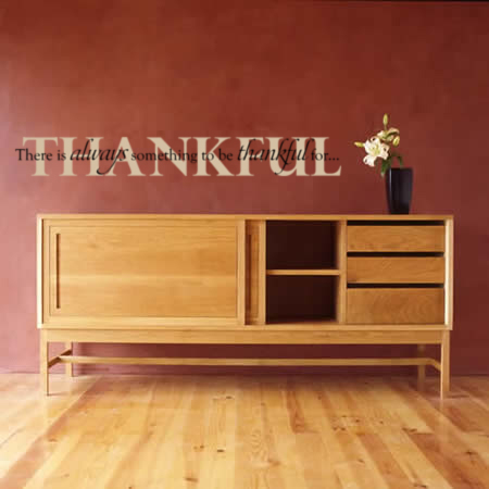 There Is always Something Thankful Wall Decal