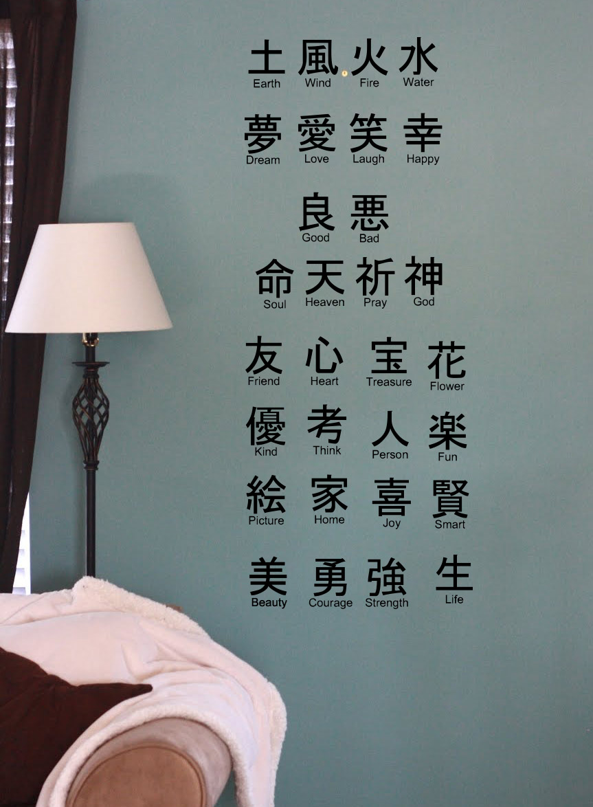 Tile Decals Asian Symbols Tile Decal