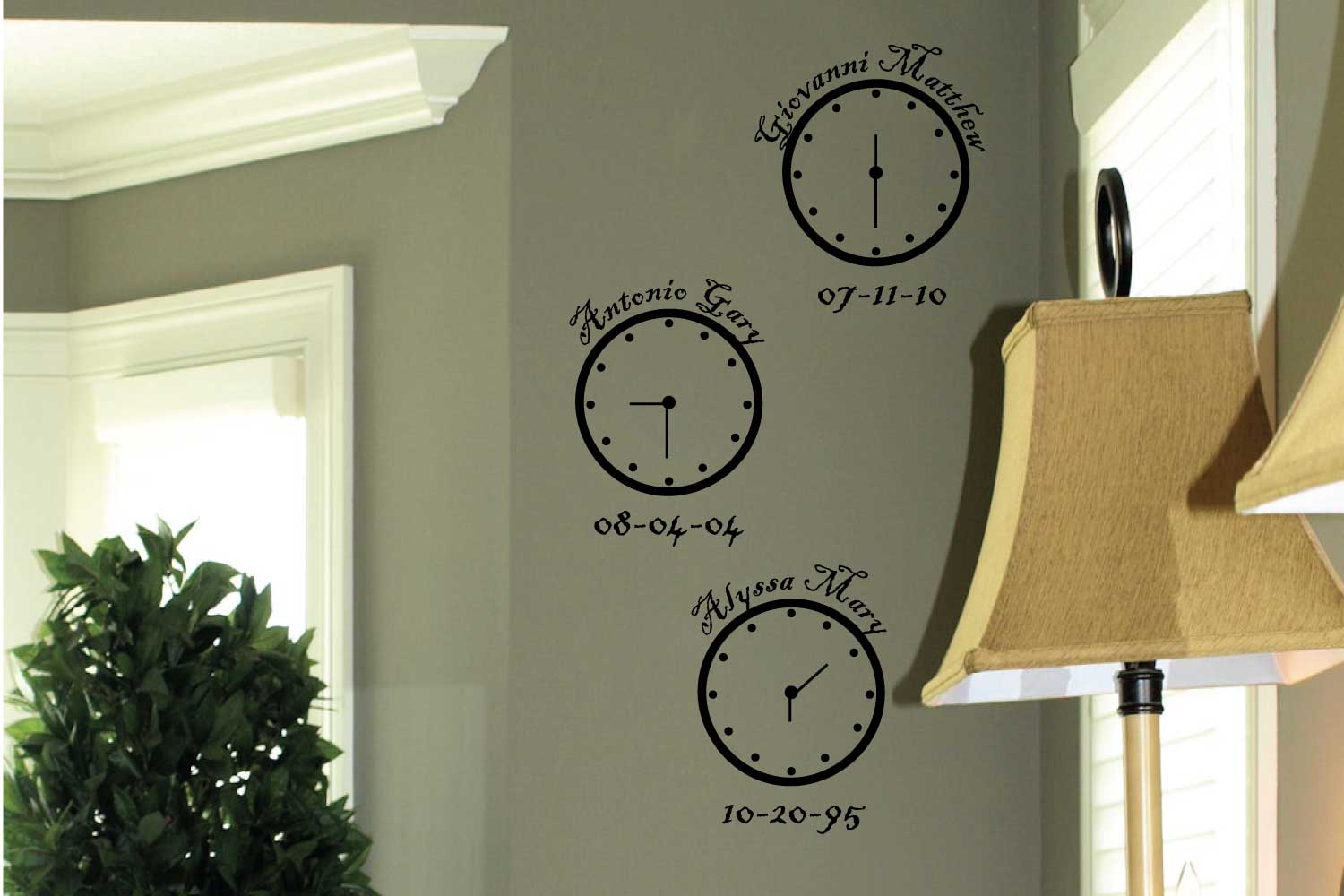 Personalized Clocks Wall Decal