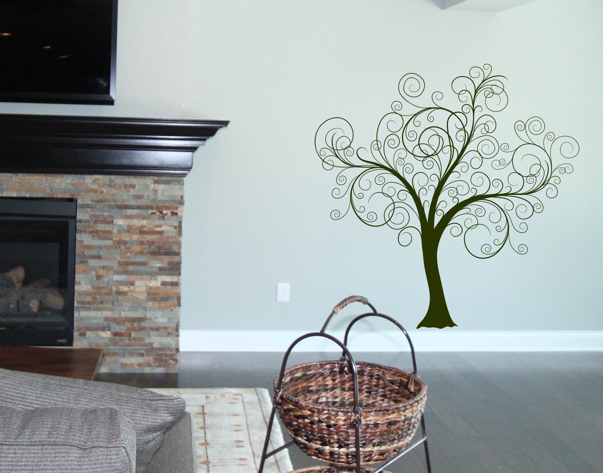 Scrolled Tree Giant Wall Decal