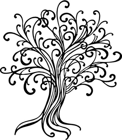 Line Draw Tree | Wall Decals