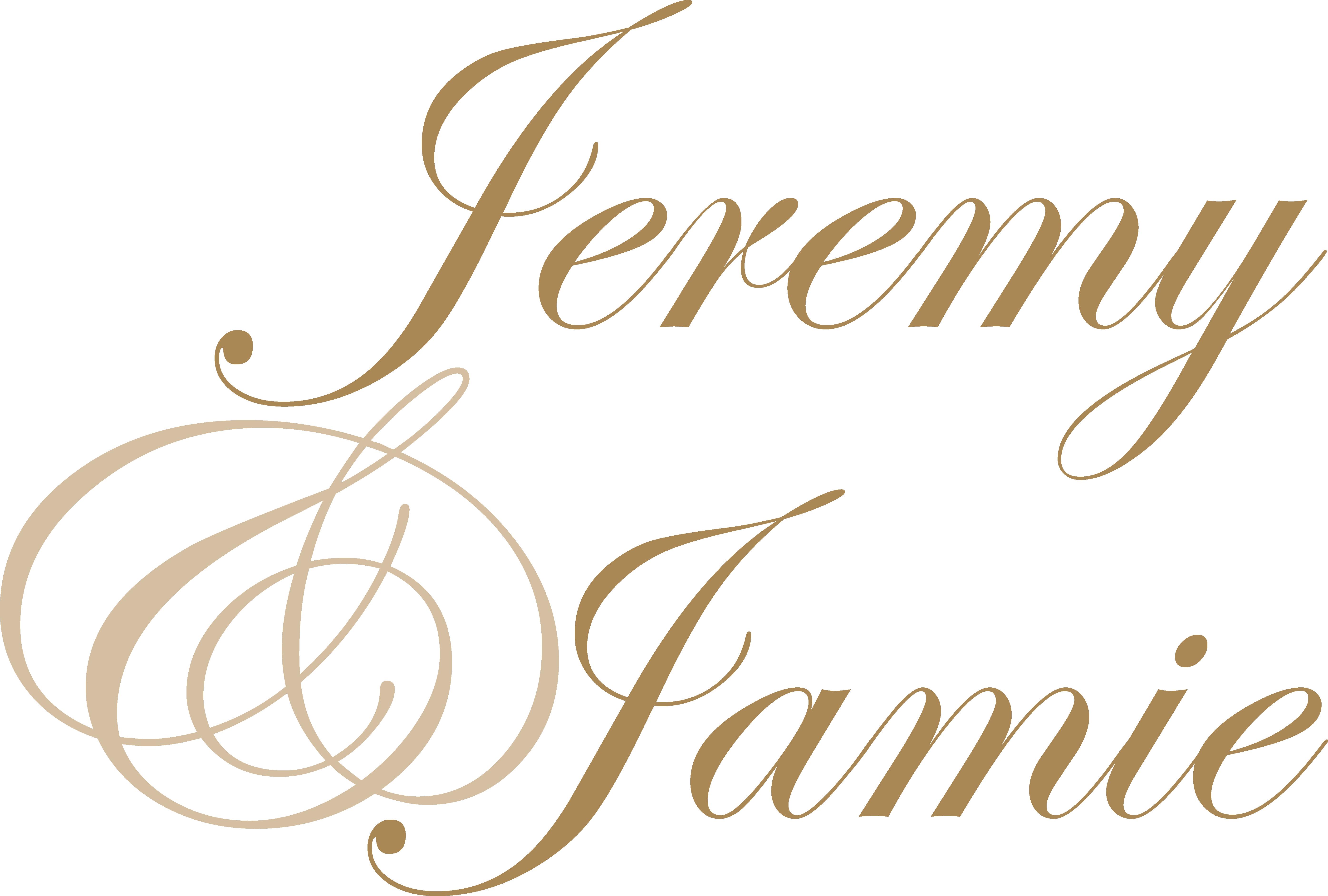 Wedding First Names Monogram