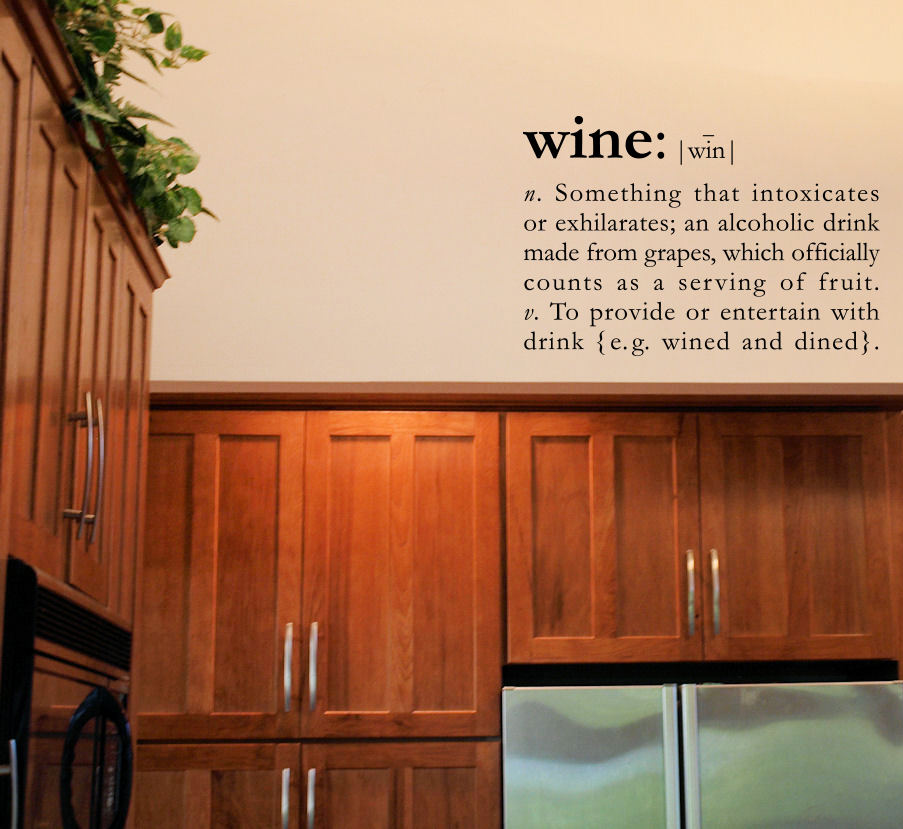 Wine Definition Wall Decal