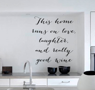 This Home Runs On... Wall Decal