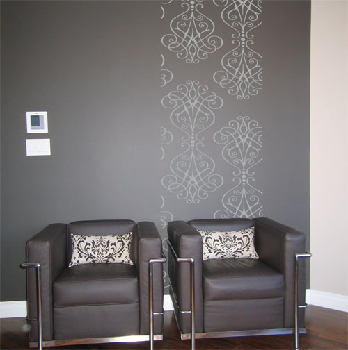 Iron Scrollwork Wall Runner Decal