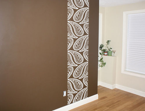 Paisley Wall Runner Decal