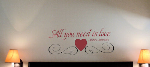 All You Need | Wall Decal