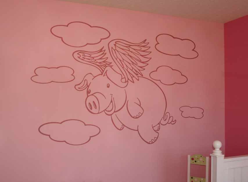 Pigs Will Fly Wall Decal