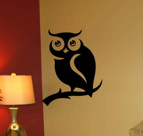 Peeking Owl Wall Decal