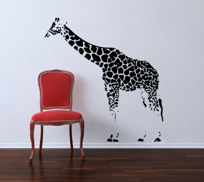 Giraffe Dot Wall Decal