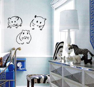 Hamsters Wall Decal