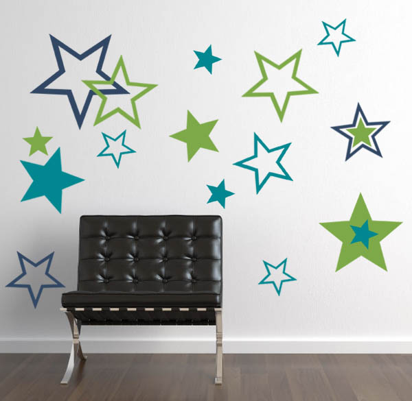 BIG Star Pack Wall Decal