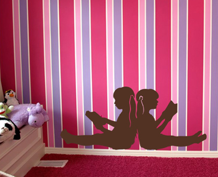 Reading Girls Wall Decal