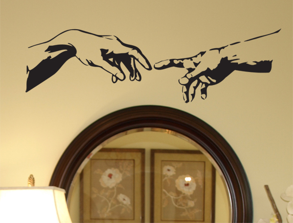 Michelangelo Hands Wall Decal