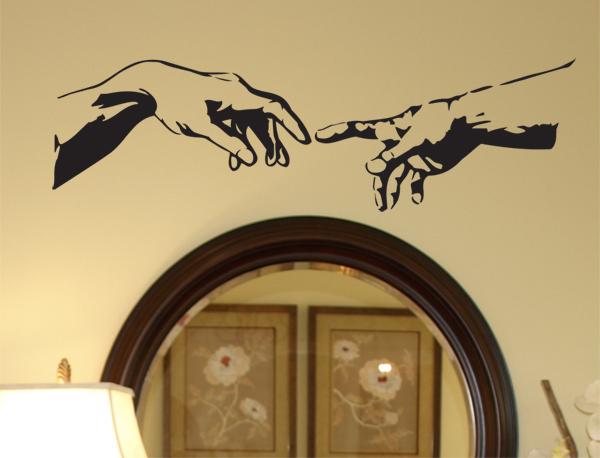 Michelangelo Hands Wall Decal
