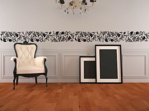 Damask Border Wall Decal