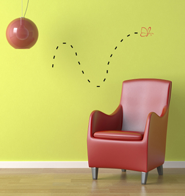 Bugs Butterfly Wall Decal