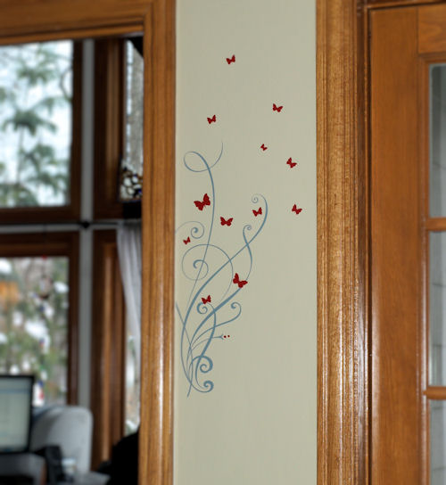 Butterfly Ribbons Wall Decal