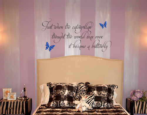 Caterpillar Butterfly Wall Decals