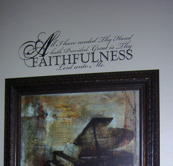 Faithfulness Wall Decal
