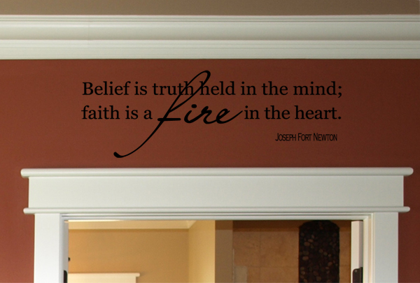 Belief Truth Faith Fire Heart Wall Decal